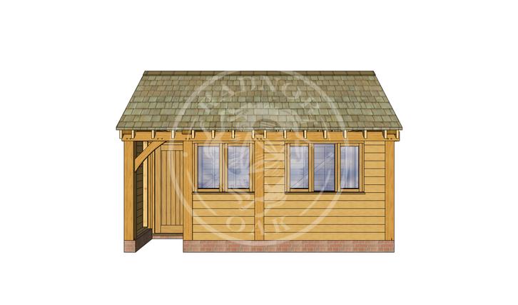 Oak Framed Summer House | Radnor Oak | SHM002 | FRONT