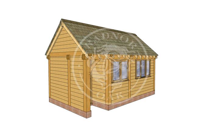 Oak Framed Summer House | Radnor Oak | SHM002 | LHE
