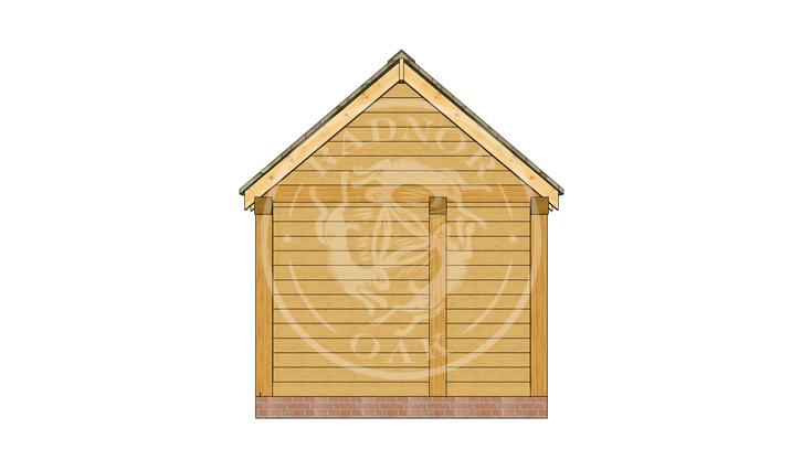 Oak Framed Summer House | Radnor Oak | SHM002 | LEFT