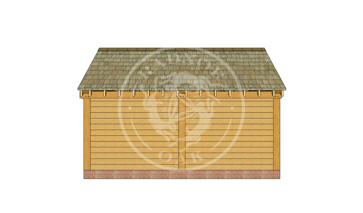 Oak Framed Summer House | Radnor Oak | SHM002 | BACK