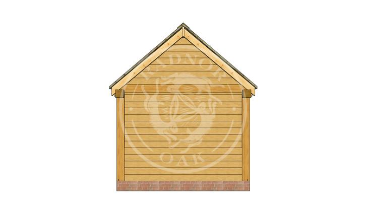 Oak Framed Summer House | Radnor Oak | SHM002 | RIGHT