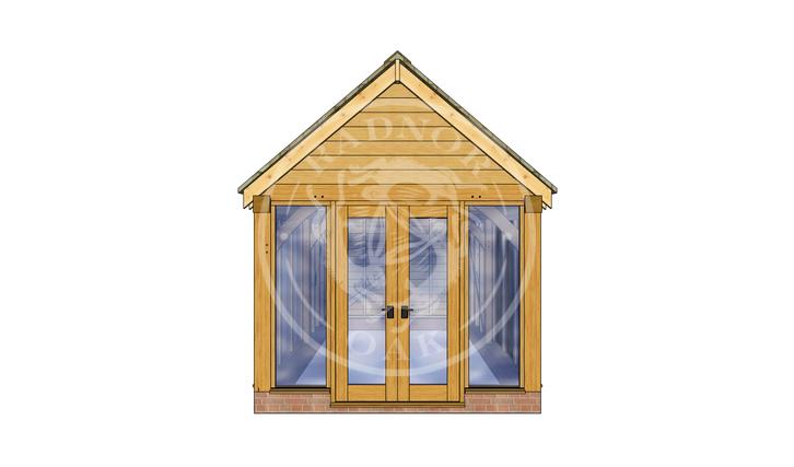 Oak Framed Summer House | Radnor Oak | SHM003 | FRONT
