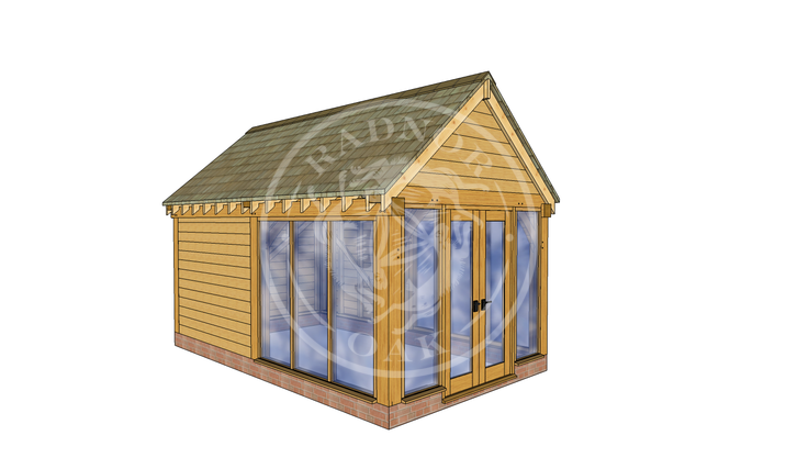 Oak Framed Summer House | Radnor Oak | SHM003 | LHE