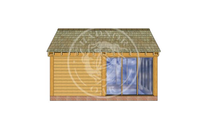 Oak Framed Summer House | Radnor Oak | SHM003 | LEFT