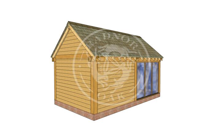 Oak Framed Summer House | Radnor Oak | SHM003 | LHB