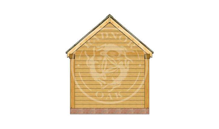 Oak Framed Summer House | Radnor Oak | SHM003 | BACK