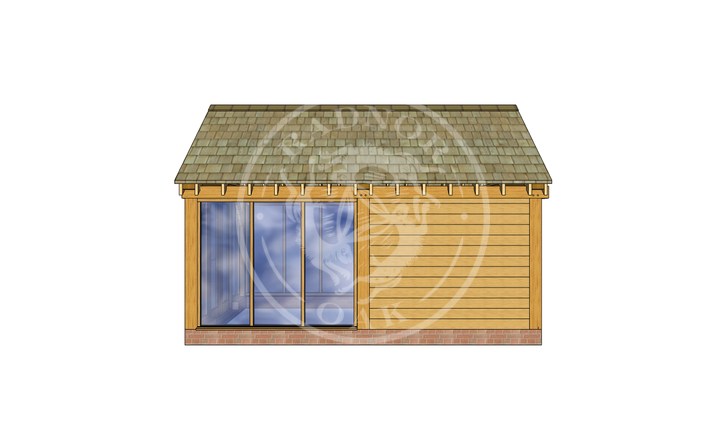 Oak Framed Summer House | Radnor Oak | SHM003 | RIGHT