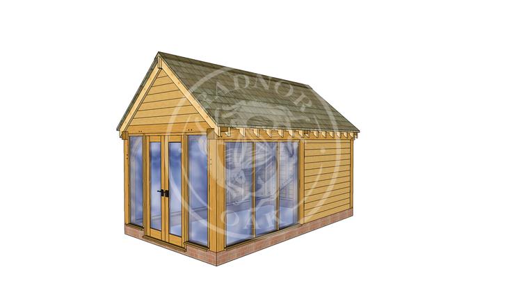 Oak Framed Summer House | Radnor Oak | SHM003 | RHE