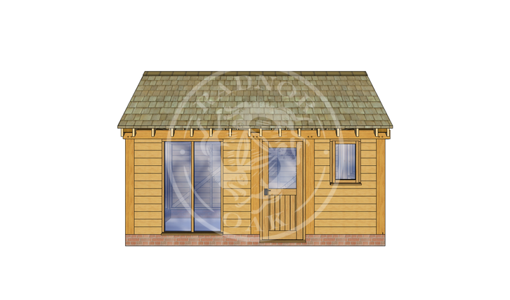 Oak Framed Summer House | Radnor Oak | SHM004 | FRONT