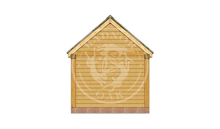 Oak Framed Summer House | Radnor Oak | SHM004 | LEFT