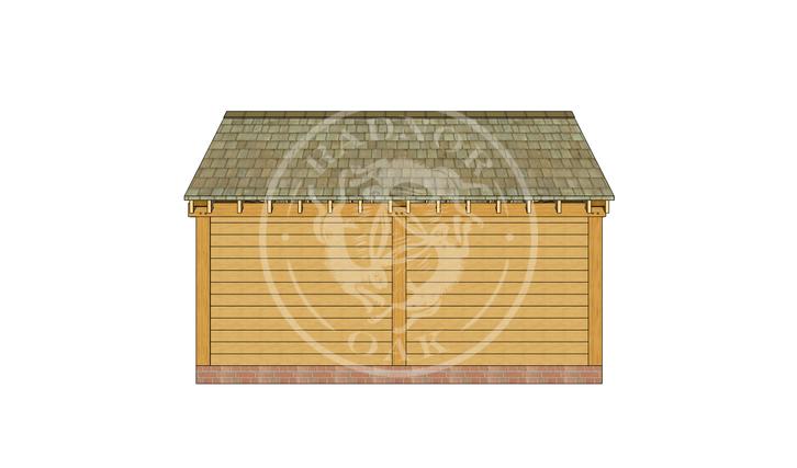 Oak Framed Summer House | Radnor Oak | SHM004 | BACK