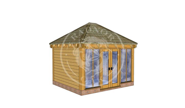 Oak Framed Summerhouse | Radnor Oak | SHS001 | LHE