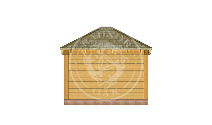 Oak Framed Summerhouse | Radnor Oak | SHS001 | BACK