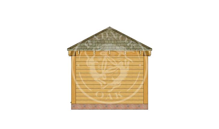 Oak Framed Summerhouse | Radnor Oak | SHS001 | RIGHT