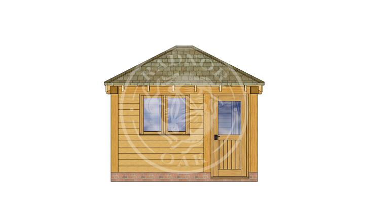 Oak Framed Summerhouse | Radnor Oak | SHS002 | FRONT