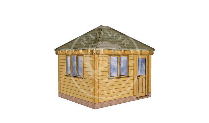 Oak Framed Summerhouse | Radnor Oak | SHS002 | LHE