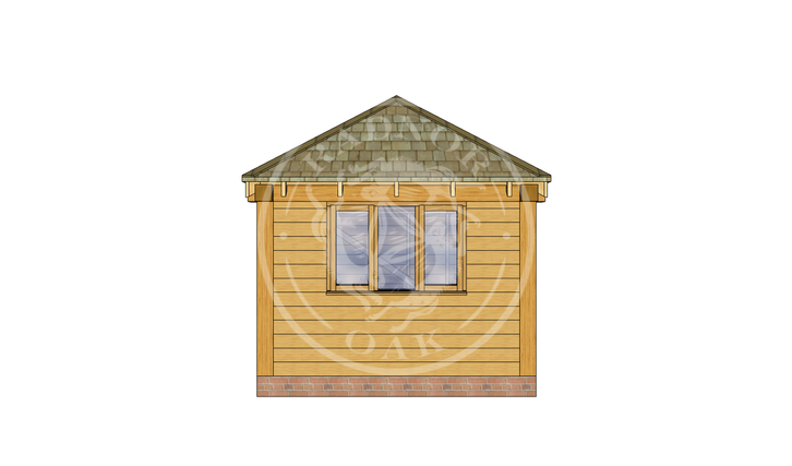 Oak Framed Summerhouse | Radnor Oak | SHS002 | LEFT