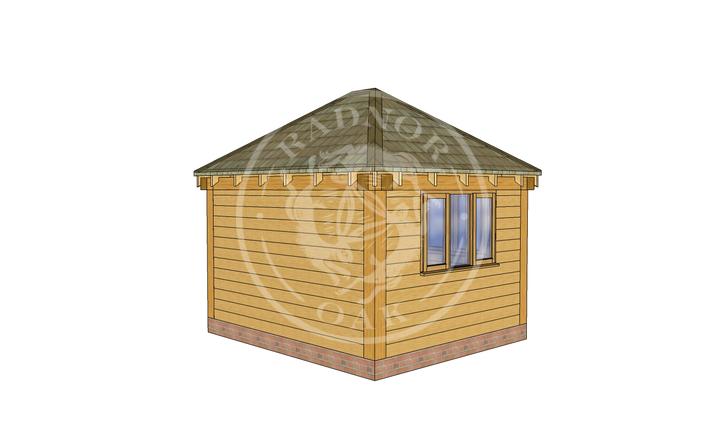 Oak Framed Summerhouse | Radnor Oak | SHS002 | LHB