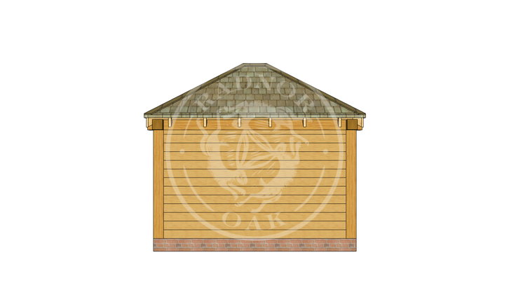 Oak Framed Summerhouse | Radnor Oak | SHS002 | REAR