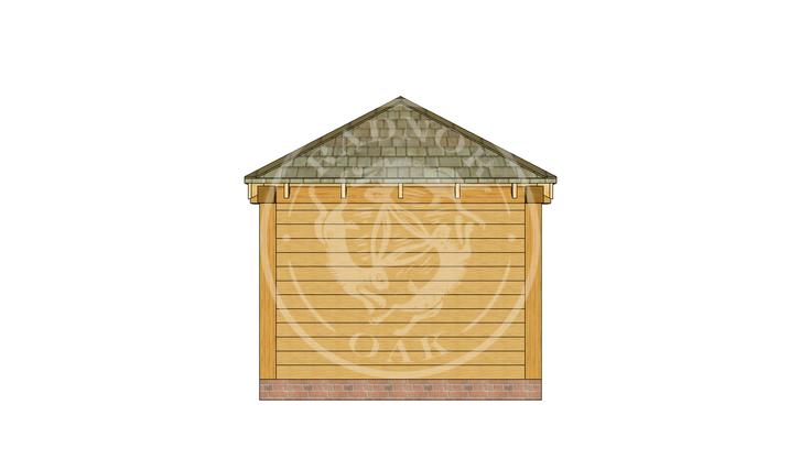Oak Framed Summerhouse | Radnor Oak | SHS002 | RIGHT