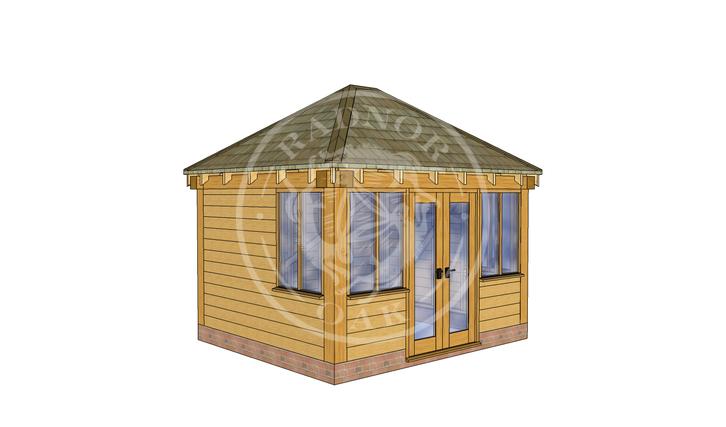 Oak Framed Summer House | Radnor Oak | SHS003 | LHE