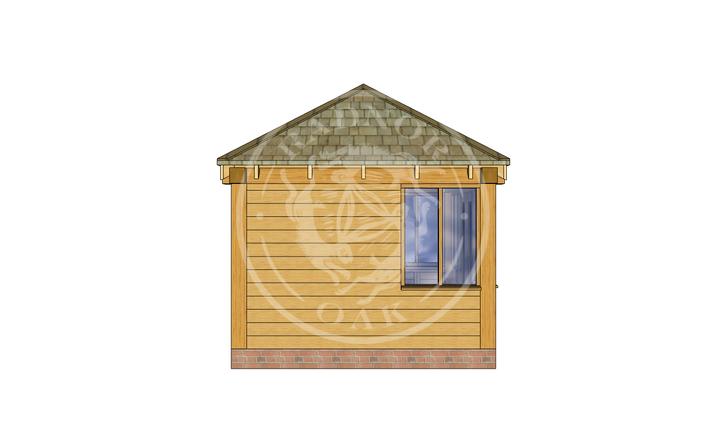 Oak Framed Summer House | Radnor Oak | SHS003 | LEFT