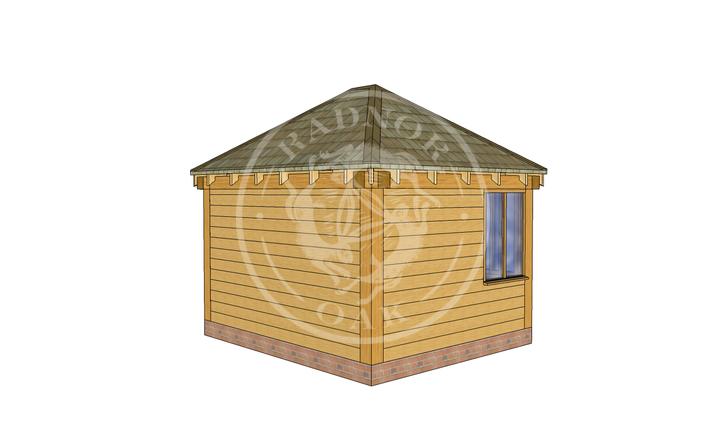 Oak Framed Summer House | Radnor Oak | SHS003 | LHB