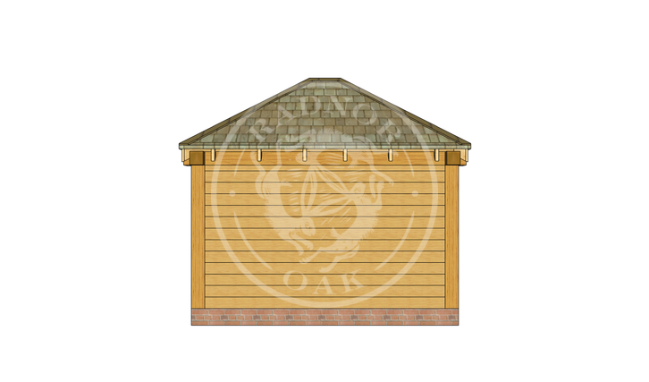 Oak Framed Summer House | Radnor Oak | SHS003 | BACK