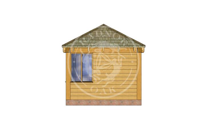Oak Framed Summer House | Radnor Oak | SHS003 | RIGHT