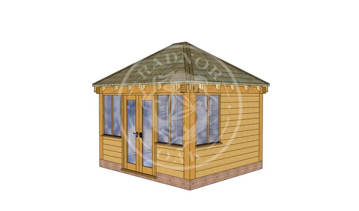 Oak Framed Summer House | Radnor Oak | SHS003 | RHE