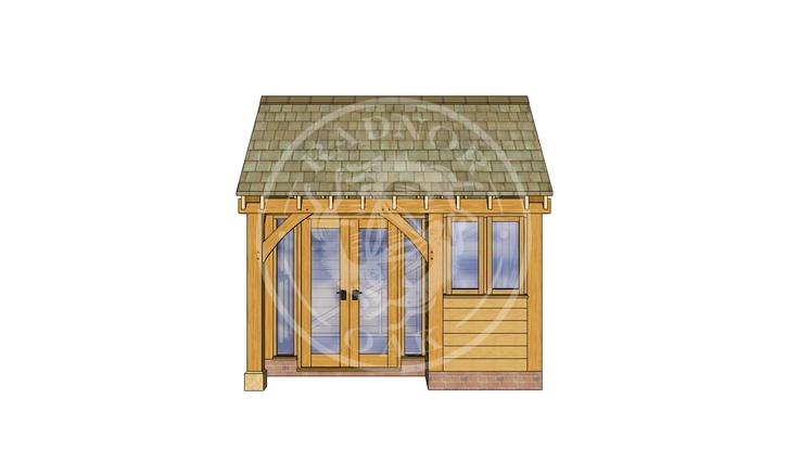 Oak Framed Summer House | Radnor Oak | SHS004 | FRONT