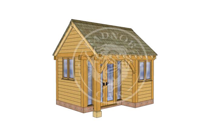 Oak Framed Summer House | Radnor Oak | SHS004 | LHE