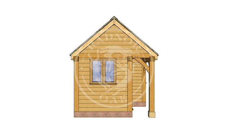 Oak Framed Summer House | Radnor Oak | SHS004 | LEFT