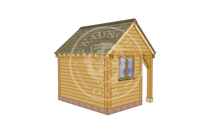 Oak Framed Summer House | Radnor Oak | SHS004 | LHB