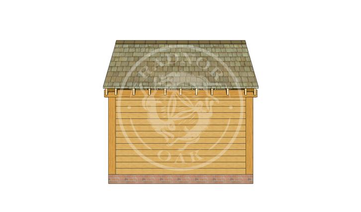 Oak Framed Summer House | Radnor Oak | SHS004 | BACK