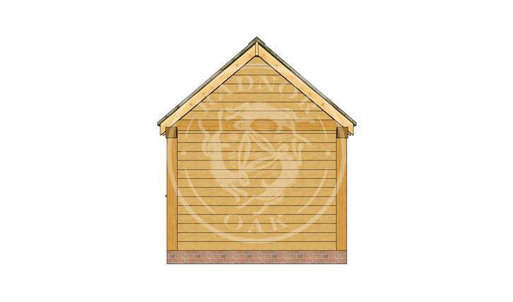 Oak Framed Summer House | Radnor Oak | SHS004 | RIGHT