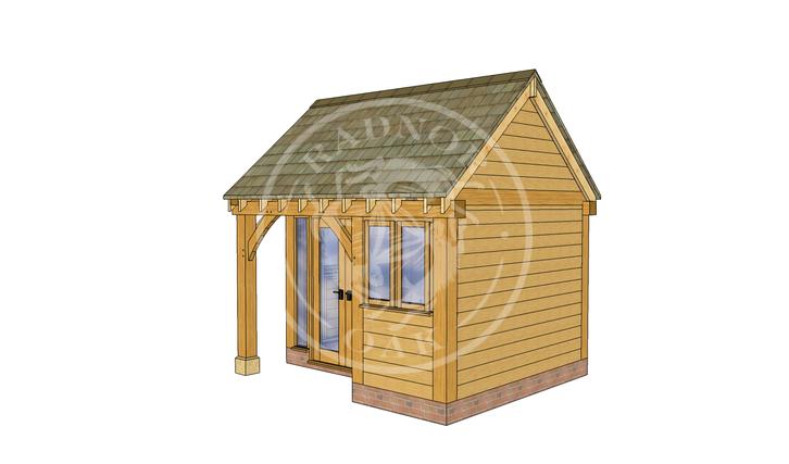Oak Framed Summer House | Radnor Oak | SHS004 | RHE
