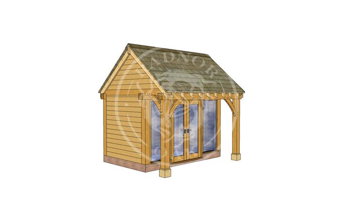 Oak Framed Summer House | Radnor Oak | SHS005 | LHE