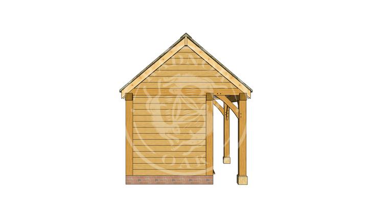 Oak Framed Summer House | Radnor Oak | SHS005 | LEFT