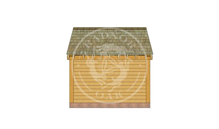 Oak Framed Summer House | Radnor Oak | SHS005 | BACK
