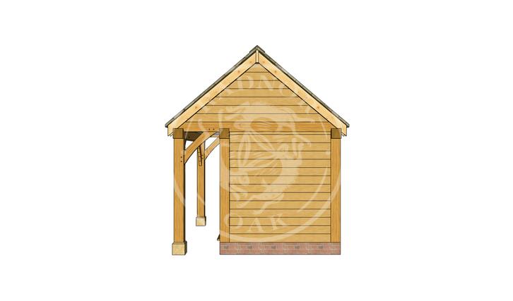 Oak Framed Summer House | Radnor Oak | SHS005 | RIGHT