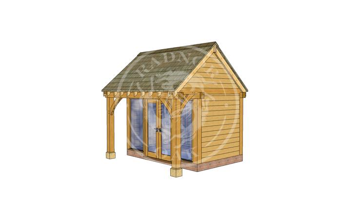 Oak Framed Summer House | Radnor Oak | SHS005 | RHE