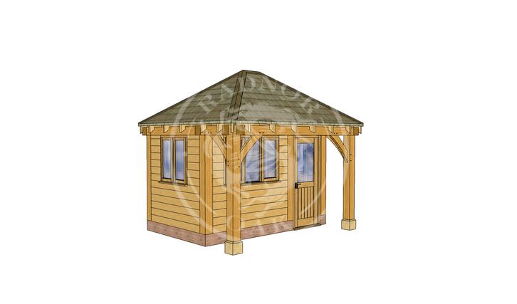 Oak Framed Summer House | Radnor Oak | SHS006 | LHE
