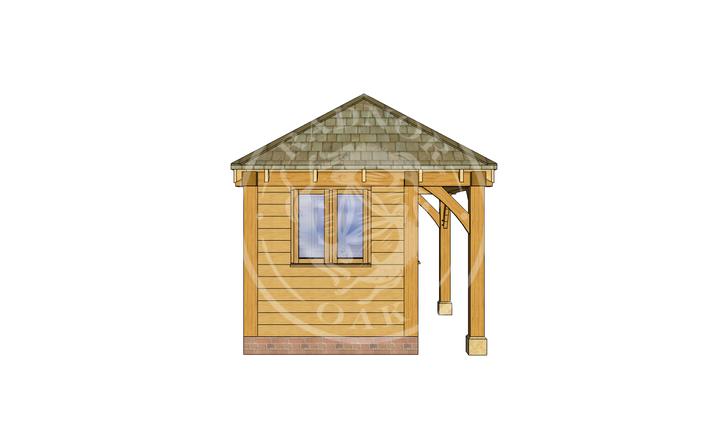 Oak Framed Summer House | Radnor Oak | SHS006 | LEFT