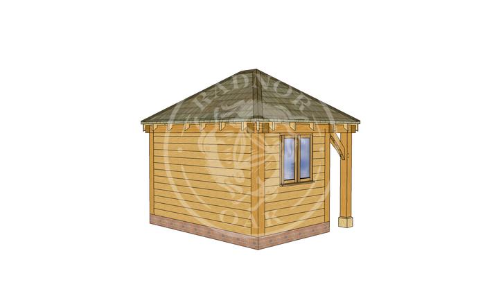 Oak Framed Summer House | Radnor Oak | SHS006 | LHB