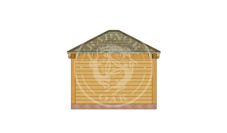 Oak Framed Summer House | Radnor Oak | SHS006 | BACK