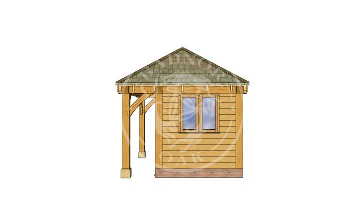 Oak Framed Summer House | Radnor Oak | SHS006 | RIGHT