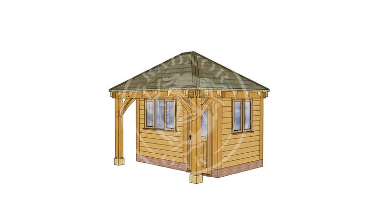 Oak Framed Summer House | Radnor Oak | SHS006 | RHE