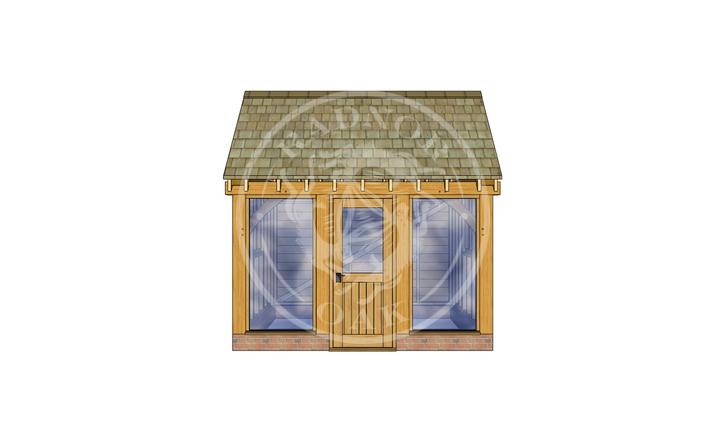 Oak Framed Summer House | Radnor Oak | SHS007 | FRONT