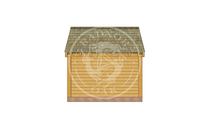 Oak Framed Summer House | Radnor Oak | SHS007 | BACK